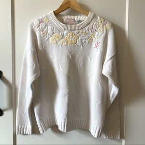 Vintage Jump by Eve Roth Cotton Embroidered Knit